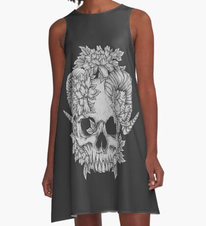 Japanese Skull A-Line Dress