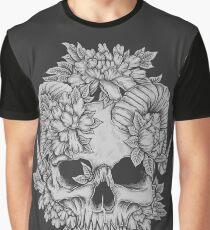 Japanese Skull Graphic T-Shirt