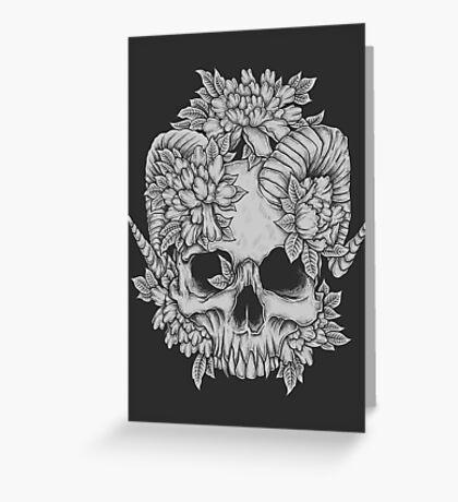 Japanese Skull Greeting Card
