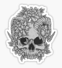 Japanese Skull Sticker