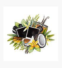 Watercolor summer design Photographic Print