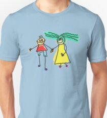 Loving Cartoon Couple Holding Hands T-Shirt