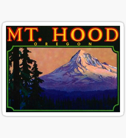 Mount Mt Hood Oregon Vintage Travel Decal Sticker
