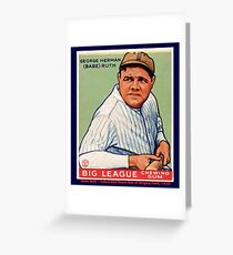 Babe Ruth Baseball Card Graphic Greeting Card