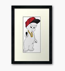 Casper the not-so-friendly ghost Framed Print