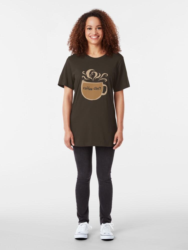 Alternate view of Coffee Break Slim Fit T-Shirt