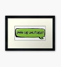 Texting Generation Framed Print