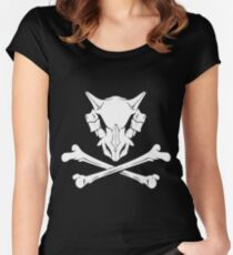 Cubone Skullhead Women's Fitted Scoop T-Shirt