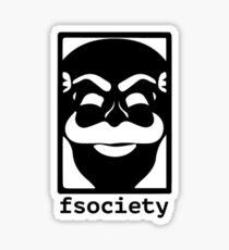 Fsociety-(black) Sticker