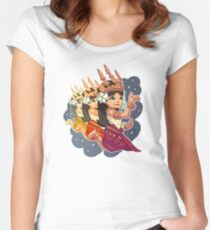 Pixel Apsara Dancing Women's Fitted Scoop T-Shirt