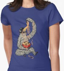 A Sloth Eating Spaghetti Women's Fitted T-Shirt