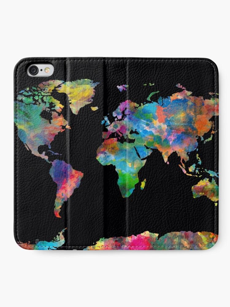 Alternative Ansicht von Weltkarte iPhone Flip-Case