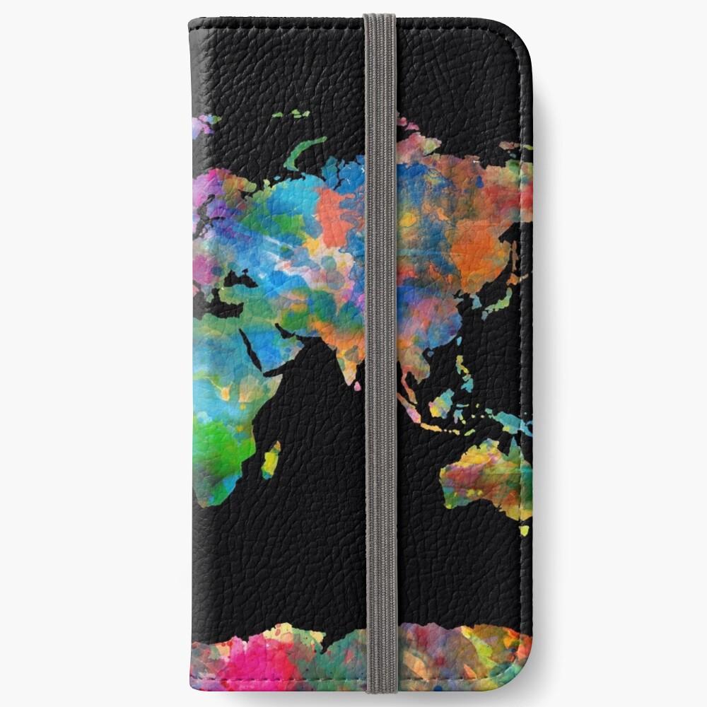 Weltkarte iPhone Flip-Case