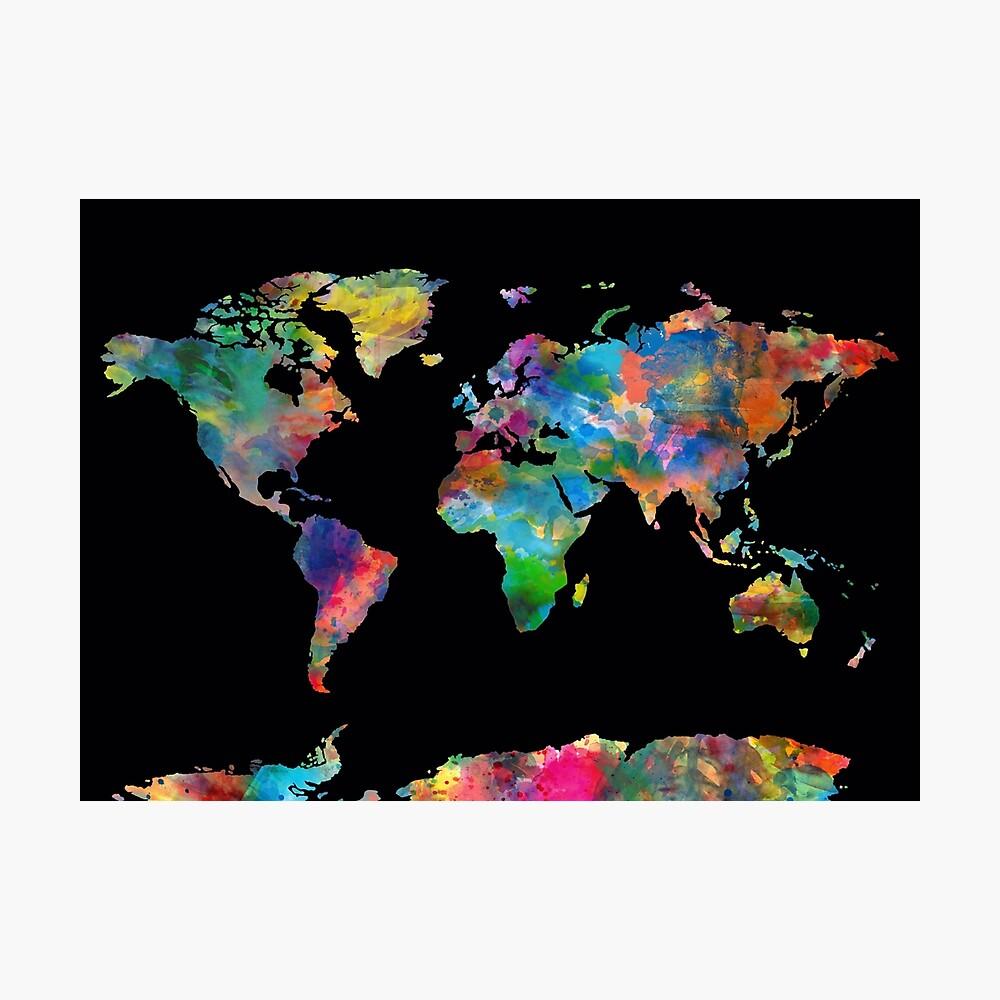 Weltkarte Fotodruck