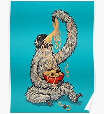 A Sloth Eating Spaghetti Poster