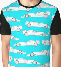 Formula one racer - blue Graphic T-Shirt