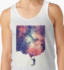 Painting the universe (Colorful Negative Space Art) Tanktop für Männer
