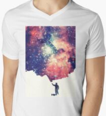 Painting the universe (Colorful Negative Space Art) Men's V-Neck T-Shirt