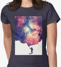 Painting the universe (Colorful Negative Space Art) T-Shirt