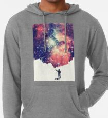 Painting the universe (Colorful Negative Space Art) Lightweight Hoodie