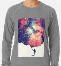 Painting the universe (Colorful Negative Space Art) Lightweight Sweatshirt