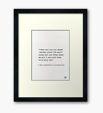 Henry Wadsworth Longfellow Framed Print