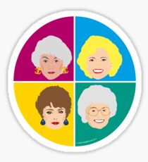 The Golden Girls - Complete Set of all four Sticker