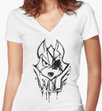 The Star Wolf Women's Fitted V-Neck T-Shirt
