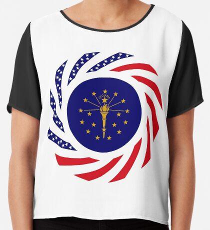Indiana Murican Patriot Flag Series Chiffon Top