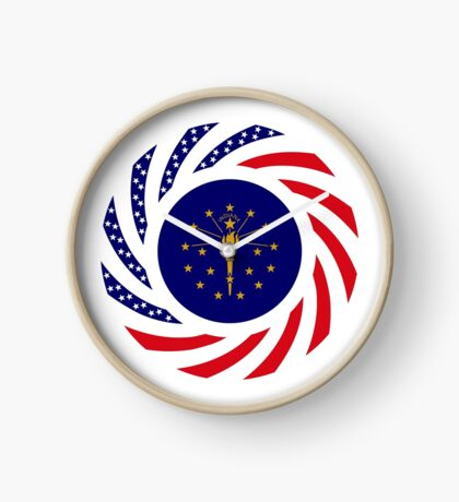 Indiana Murican Patriot Flag Series Clock
