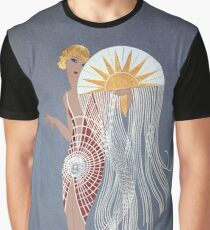 "Erte's Striking Art Deco Design ""The Flapper"" Graphic T-Shirt"