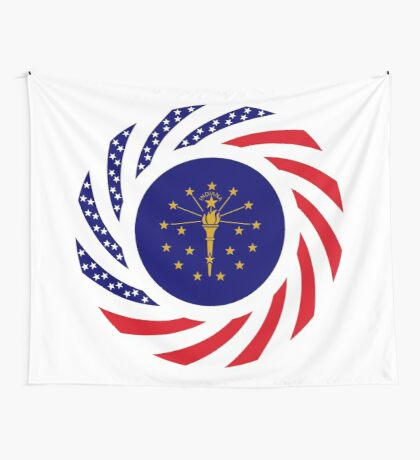 Indiana Murican Patriot Flag Series Wall Tapestry