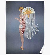 """Erte's Striking Art Deco Design """"The Flapper"""" Poster"""