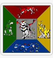 From Days of Long Ago.....Cubist Voltron Sticker