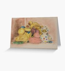 All the ducks not swimming in the water Greeting Card
