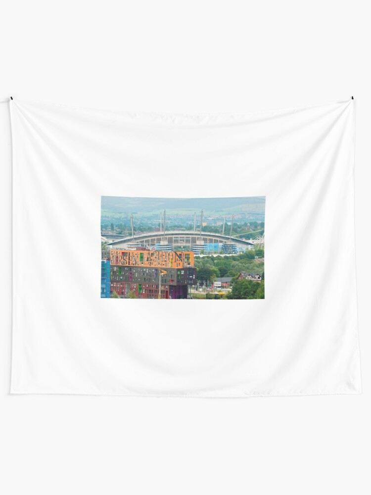 Alternate view of Etihad Stadium, the home of  Manchester City Football Club Tapestry