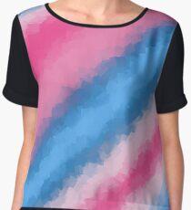 Cotton Candy Soft Rainbow Colors Chiffon Top