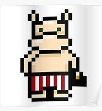 Moomin Pixel art Poster