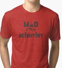 Mad Scientist Electric Science Beaker Tri-blend T-Shirt
