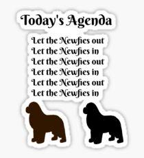 Today's Agenda Sticker