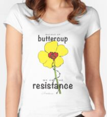 Buttercup Resistance Women's Fitted Scoop T-Shirt