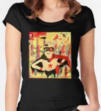 Wonder Boy Street Art Women's Fitted Scoop T-Shirt