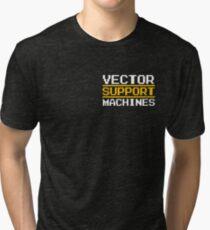Support vector machines logo, white (8-bit) Tri-blend T-Shirt