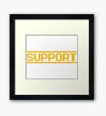 Support vector machines logo, white (8-bit) Framed Print
