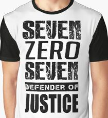 SEVEN, Defender of Justice Mystic Messenger Collection Graphic T-Shirt