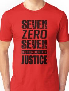 SEVEN, Defender of Justice Mystic Messenger Collection Unisex T-Shirt