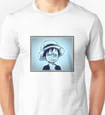 One Piece Luffy not amused funny face T-Shirt