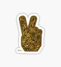 Peace fingers better Sticker