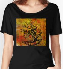 Old and Ancient Tree - Autumn Shades  Women's Relaxed Fit T-Shirt