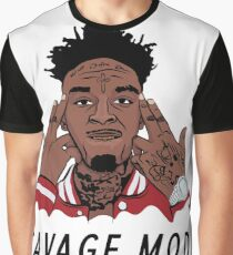 """21 Savage """"Been In Savage Mode""""  Graphic T-Shirt"""